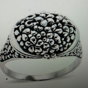 Nwt- Sterling open cut raised small dome ring. 7